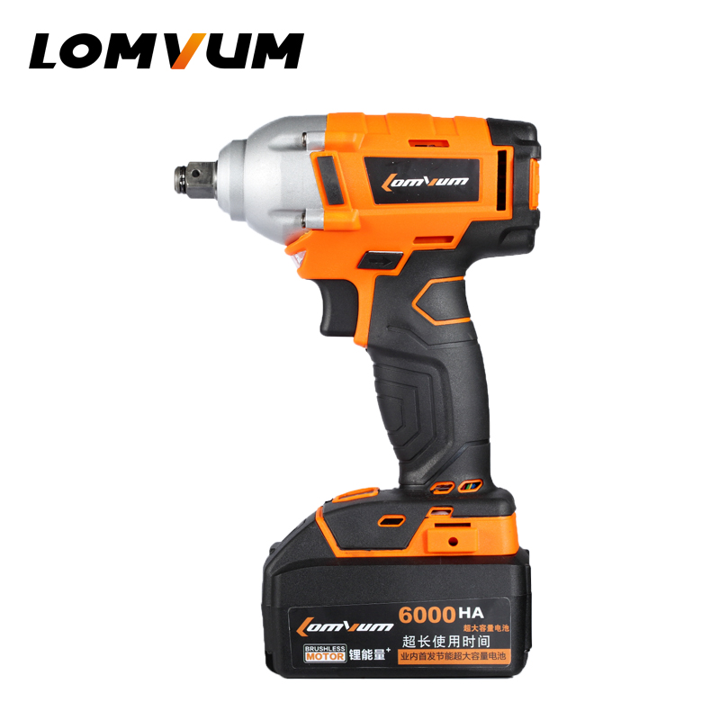 LOMVUM Integrated Brush Wrench wheel hilti tool cordless Electrical Impact wrench nut spanners screw gun avvitatore ad impulsi