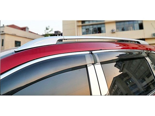 DIY Aluminum Silver Roof Rack Side Rails Luggage Carriers Bar For Nissan  Rogue X Trail