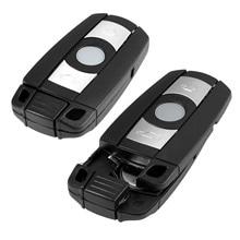 2Pc Smart Key Shell 3 Button Remote Car Key Case KR55WK49127 123 For BMW 328i 330i 335i 525i 528i 530i 535i 550i Replacement Fob replacement 2 button transponder smart key casing for bmw mini