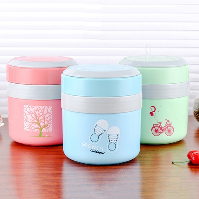 Cute Double Layer Food Storage Container Stainless Steel Lunchbox Portable Thermal Insulation Dinnerware Sets Bento Boxes  sc 1 st  AliExpress.com & Cute Double Layer Food Storage Container Stainless Steel Lunchbox ...