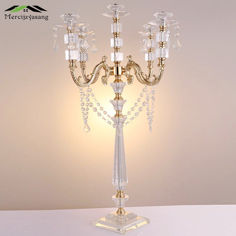10Pcs/Lot Candle Holder Crystal Candlestick 5-arms Geometric Table Candle Holders Road Lead for Wedding/Dinner Decoration GZT06710Pcs/Lot Candle Holder Crystal Candlestick 5-arms Geometric Table Candle Holders Road Lead for Wedding/Dinner Decoration GZT067