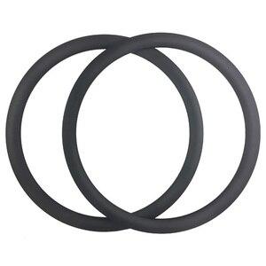 Image 3 - SUPER LIGHT 700C 380g 42mm Asymmetric Clincher Tubeless Ready Road Carbon Rims Holeless Disc Bike Wheel Tapeless Valve Hole Only