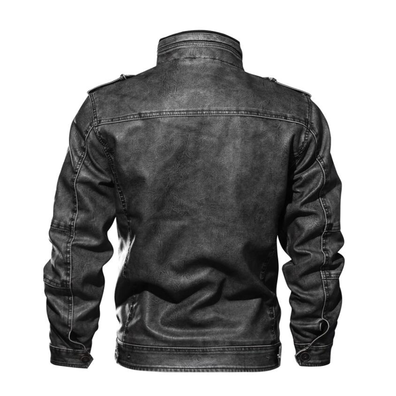 506db64f9e8 2018 Autumn Winter Leather Jacket Men Tactical Bomber Multi Pocket Jacket  Warm Military Pilot Coat Thick Motorcycle Jacket 5XL-in Faux Leather Coats  from ...