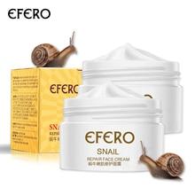 лучшая цена efero 2pcs Anti-wrinkle Cream Moisturizing Face Cream Snail Serum for Face Repair Anti-aging Whitening Cream Collagen Essence