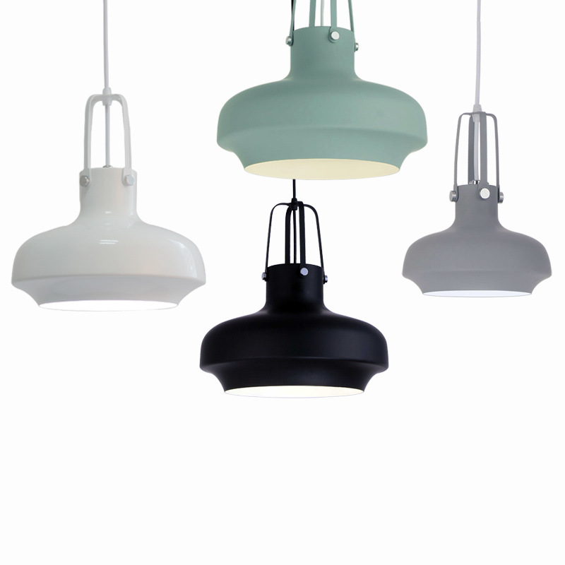 5 Color Modern Loft Nordic Aluminum Hanging Pendant Lamp Lamparas Fixture E27 LED Pendant Lights For Kitchen Bedroom Living Room