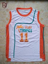 BONJEAN Cheap Throwback Basketball Jerseys 11 ED Monix Flint Tropics Semi  Pro Movie White Jersey Stitched e31a5d55c