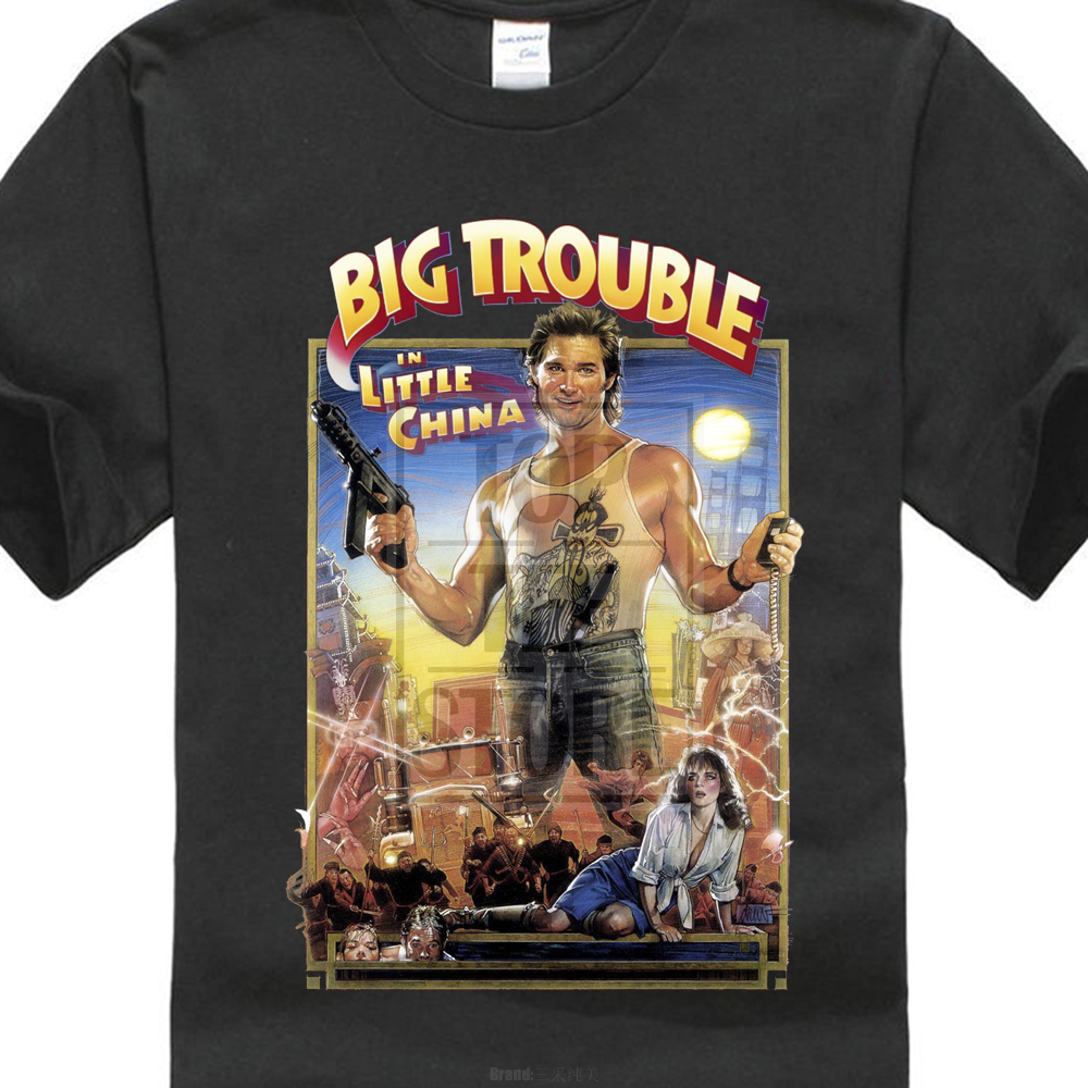 Summer   shirt   printing Big Trouble In Little China 80'S Vintage Movie Printed   T     Shirt   Summer Cool Design Tops Soft Short Sleeve