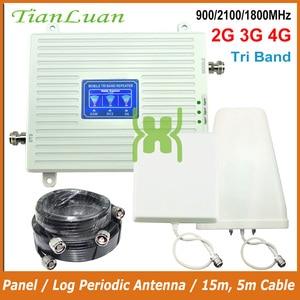 Image 1 - TianLuan להקת 1/3/8 2G 3G 4G טלפון נייד אותות בוסטרים GSM 900 MHz DCS LTE 1800 MHz W CDMA 2100 MHz נייד מהדר מגבר