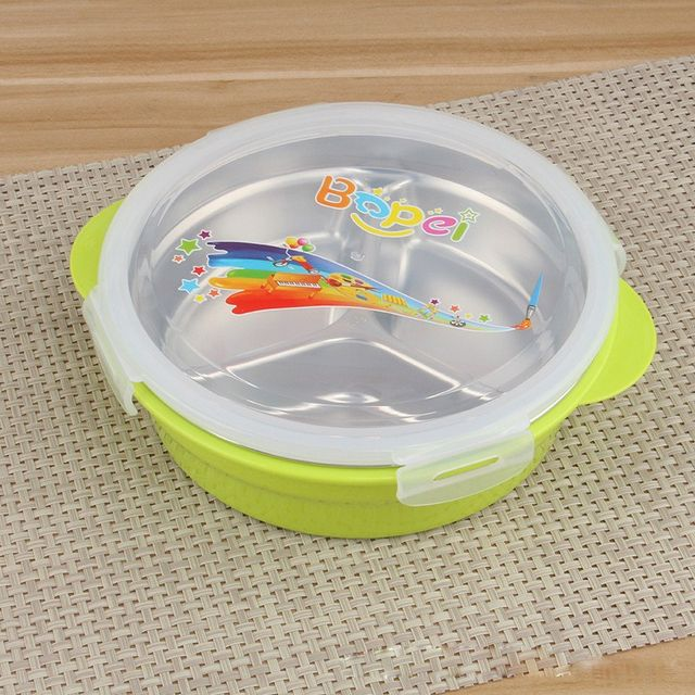 Online Shop ml Round Stainless Steel Lunch Box Metal Thermal