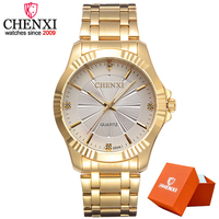 CHENXI Gold Watch Men Luxury Business Man Watch Golden Waterproof Fashion Casual Quartz Male Dress Clock