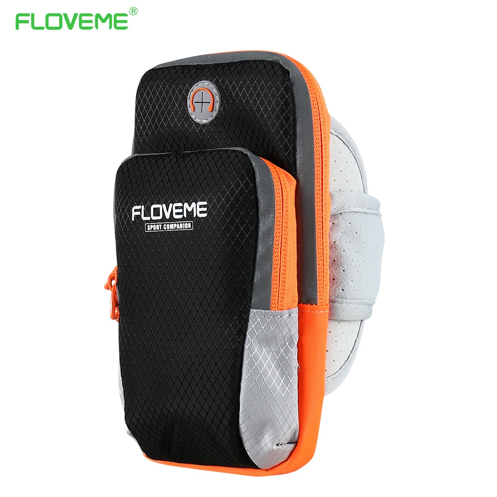 FLOVEME 6 Jogging Arm Band Case For iPhone 6 6s 7 Plus 5 X GYM Universal Outdoor Sport Running Hand Bag Cover Mobile Phone Case