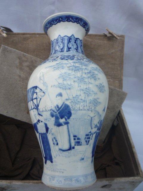 kolekcija Qing dinastijos mėlynos ir baltos porceliano vaza (Pekino - Namų dekoras - Nuotrauka 4