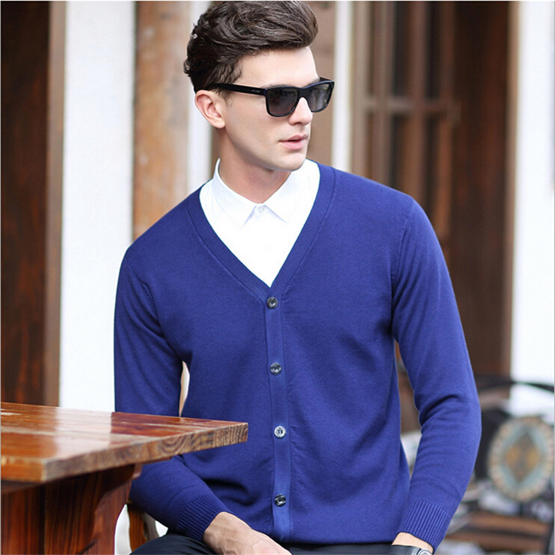 2017 Fashion font b Men b font Winter Solid Color font b Sweater b font Single
