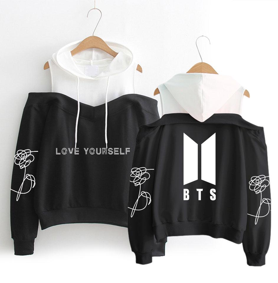 Compras de la gota 2018 BTS KPOP Sudadera con capucha sudadera bts suga V jimin Kpop ejército sudaderas con capucha BTS álbum kpop ropa coreana sudor jersey
