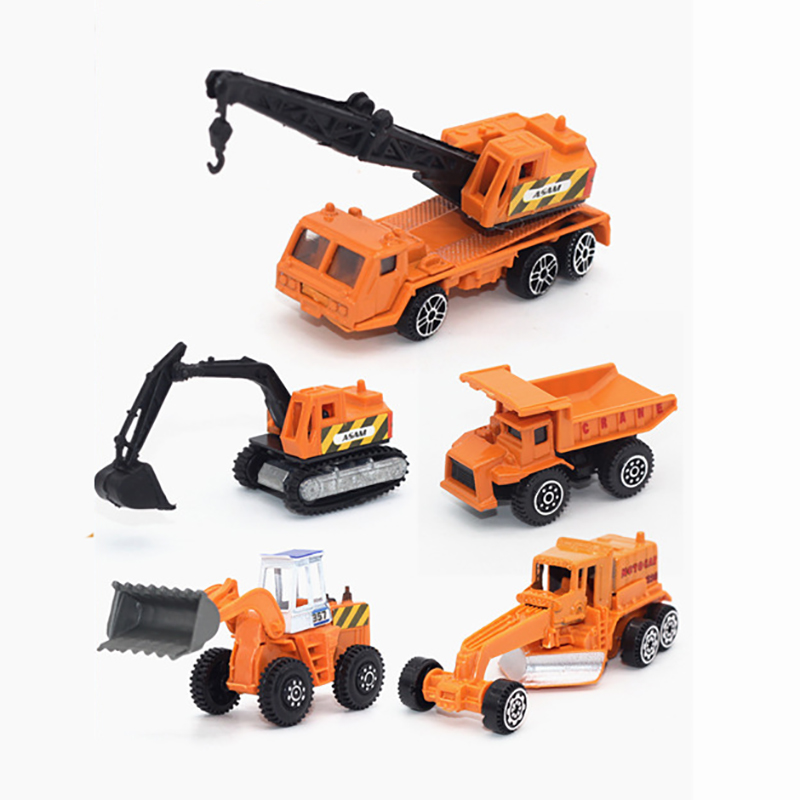 6pcs set mini Diecasts Car alloy construction vehicle Engineering Car Dump Truck Artificial Model Toys For boy kids Forklift in Diecasts Toy Vehicles from Toys Hobbies