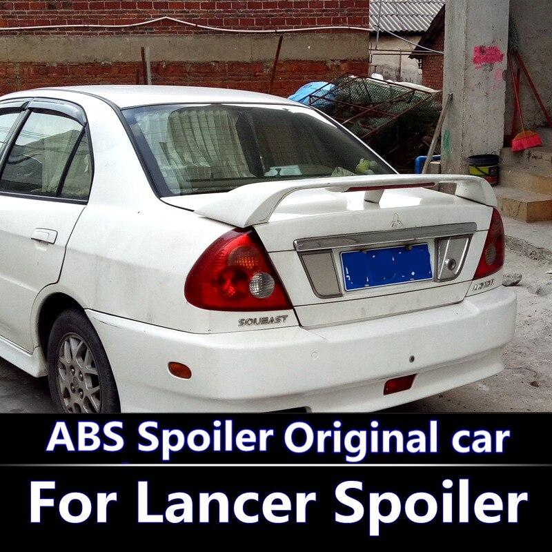 Pour Lancer le Spoiler matériel ABS de haute qualité d'amorce d'aile arrière de voiture couleur aileron arrière pour Mitsubishi Lancer Spoiler 2003-2009