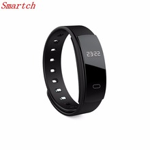 Smartch QS80 Smart Bracelet Heart Rate Blood Pressure Fitness Tracker Smart Electronics 0.42 inch OLED Wristband for BT Phones