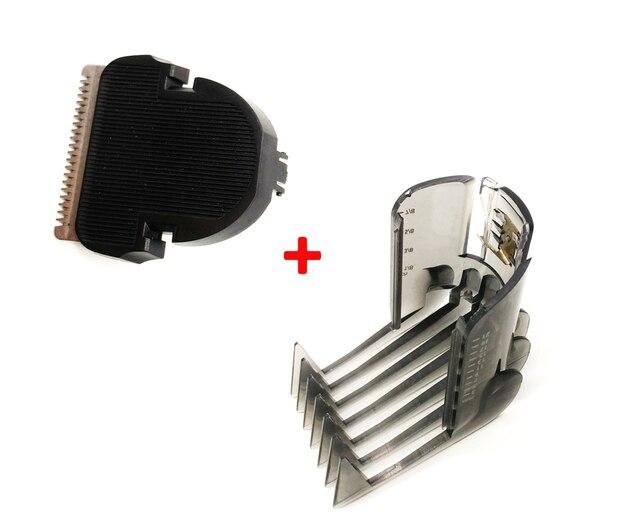 2 unids set Clipper peine + pelo cortador para Philips QC5105 QC5115 QC5155  QC5120 QC5125 466853412042