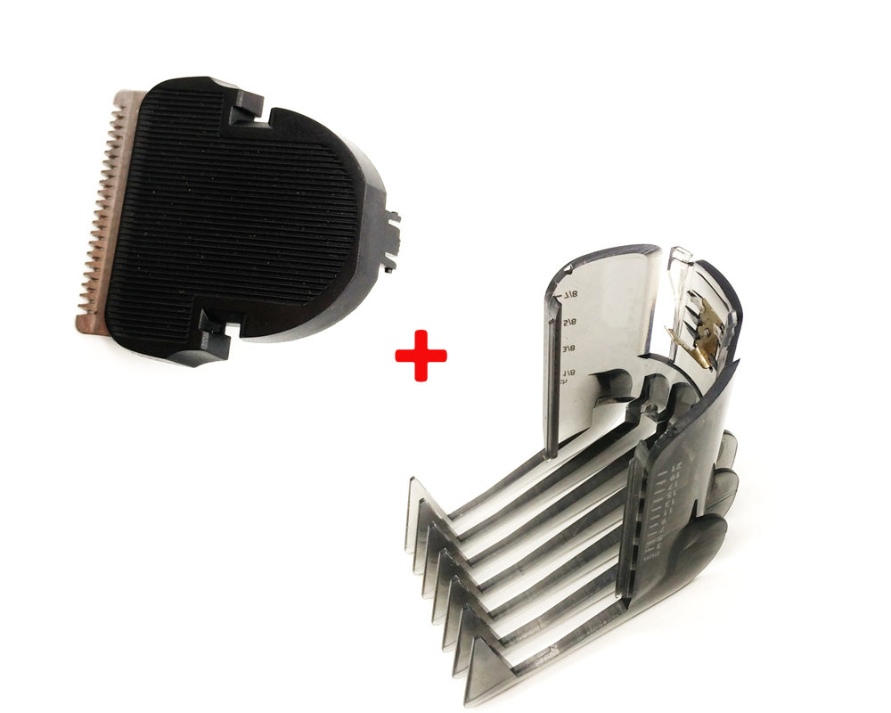 2pcs/set HAIR CLIPPER COMB + Hair Trimmer Cutter For Philips QC5105 QC5115 QC5155 QC5120 QC5125 QC5130 QC5135 QC5105