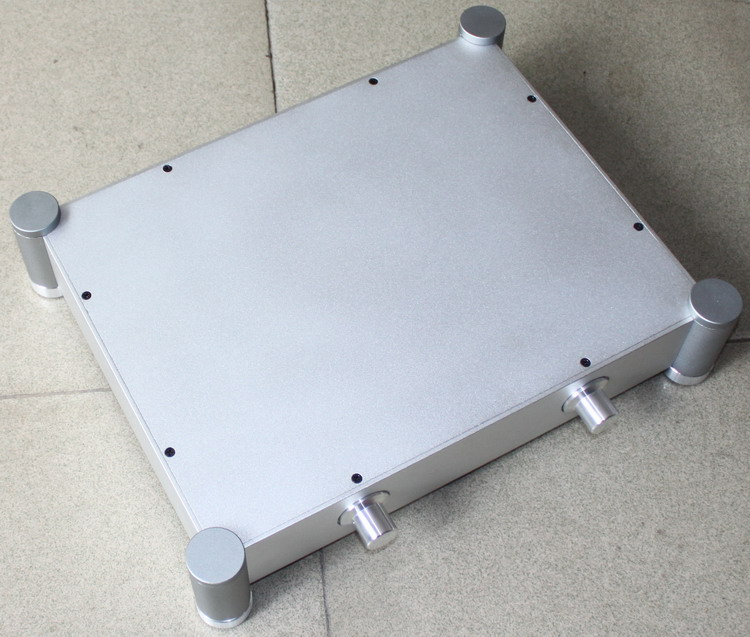 DIY amplifier case 430*92*340mm WA22 Full aluminum amplifier chassis / Tube amp / Pre-amplifier / AMP Enclosure / case / DIY box full aluminum amplifier chassis pre amplifier rear amp chassis balanced chassis amp case enclosure box diy 430 80 320mm