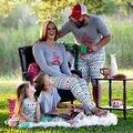 Navidad Trajes De Navidad Kids Baby girl Set Pijama madre Traje de mamá y las niñas trajes a juego de La Familia