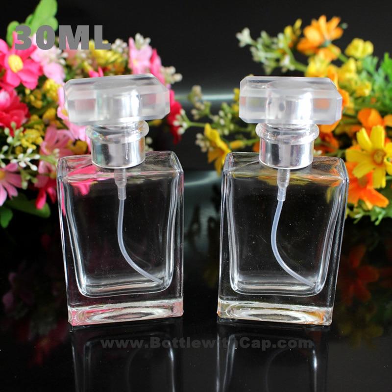16*30ml Quad flat glass perfume bottle spray bottle