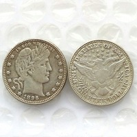 90 Silver 1896 Barber Quarter Dollars Retail Wholesale USA Copy Coins