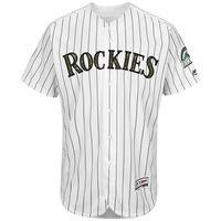 MLB Men S Colorado Rockies Baseball White Fashion 2016 Memorial Day Flex Base Team Jersey