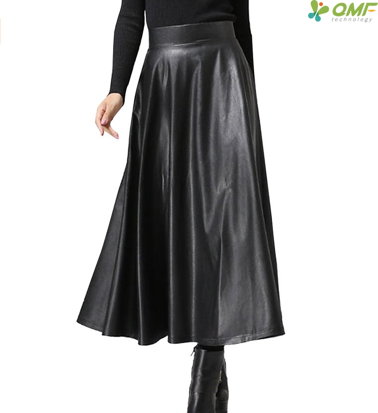 19624c6fa3 Aliexpress.com : Buy Swing Pleated PU Skirt Elegant Faux Leather Skirt High  Waist Retro Long Skirts Comfortable Faldas Ball Gown Party Wearing Female  from ...