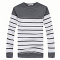 2017 Plus Size M-XXXL T shirt Men Thickening Striped Casual Warm T-shirt Men O Neck Cotton Long Sleeve t shirts