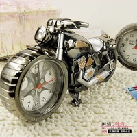 Free Shipping Cool Motorcycle Model Clock Alarm Clock Fashion Personalized Home Gifts Small Bedside Alarm Clock