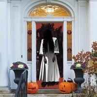 Woman Ghost 3D Door Stickers Removable Waterproof Scary Halloween Wall Art Sticker