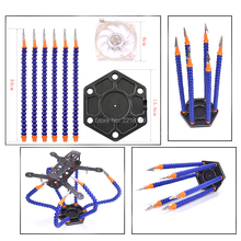 Third Hand Helping Hands Soldering Tool 6 Flexible Arms Six Arm Soldering Station With Swiveling Alligator Clip for RC Drone
