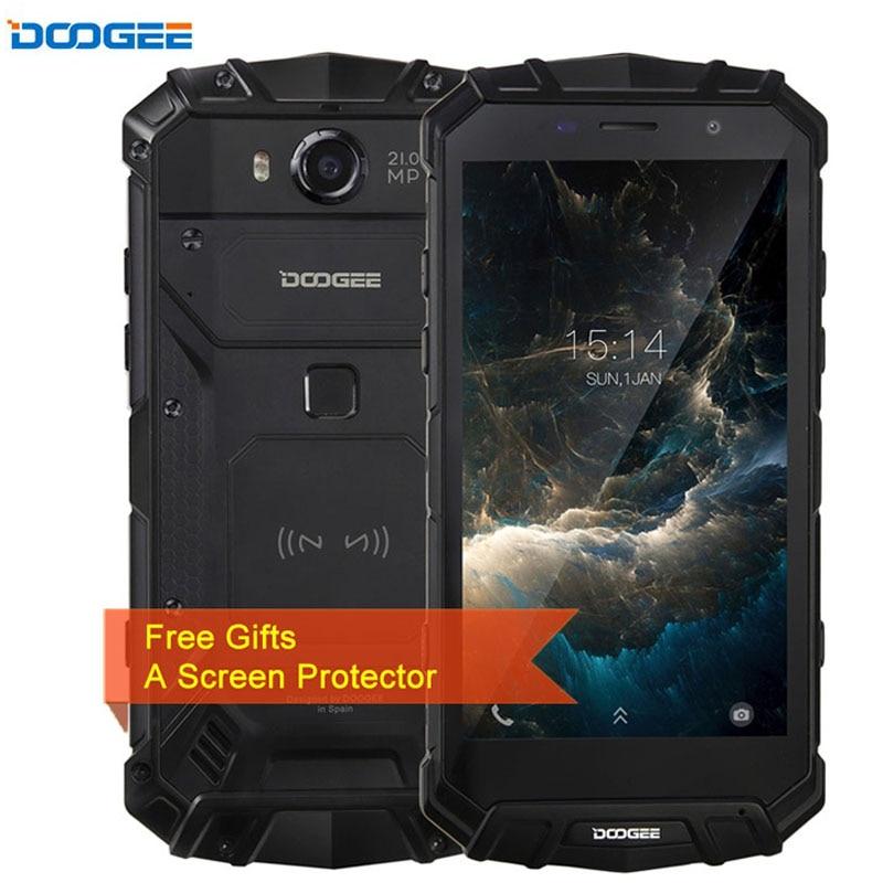 DOOGEE S60 Triple Proofing 6GB/64GB IP68 Waterproof 5580mAh Fingerprint Identification 5.2'' Android 7.0 MTK Helio P25 4G NFC