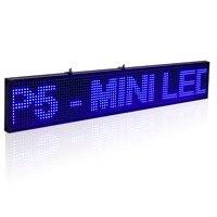 20x4 Cal SMD P5 Doprowadziły Podpisać Moduł Programowalny Przewijanie Wiadomość Wyświetlacz LED Pokładzie z Metalowy Łańcuch, Niebieski czas odliczania
