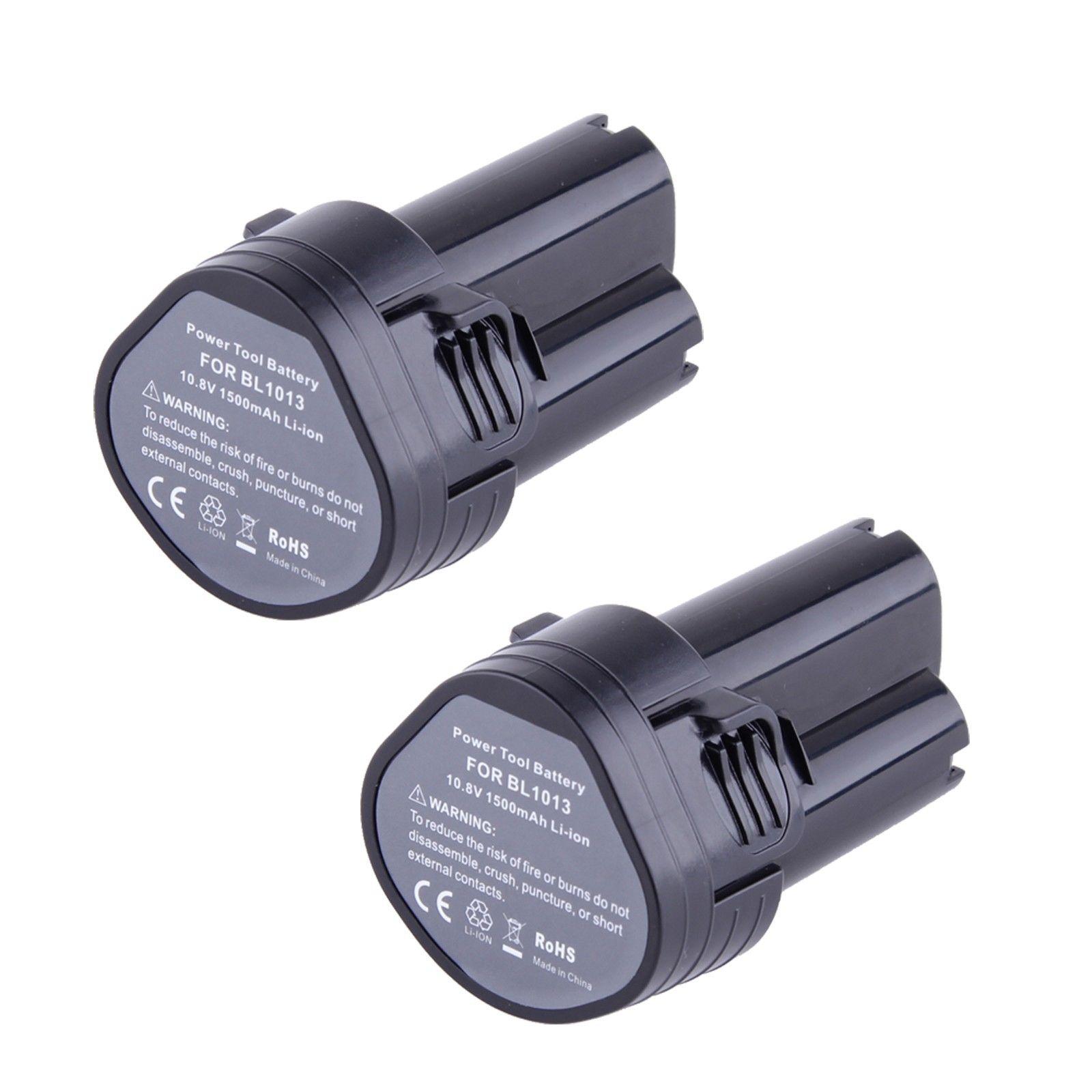 Top Offerte 2X10.8 Volt Li-Ion Batteria per Makita BL1013 194551-4 194550-6 TD090DW LCT203W