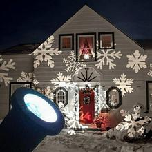 High Quality Outdoor Xmas Snowflake LED Garden Christmas Laser Light Projector IP65 US Professional Game Accessories
