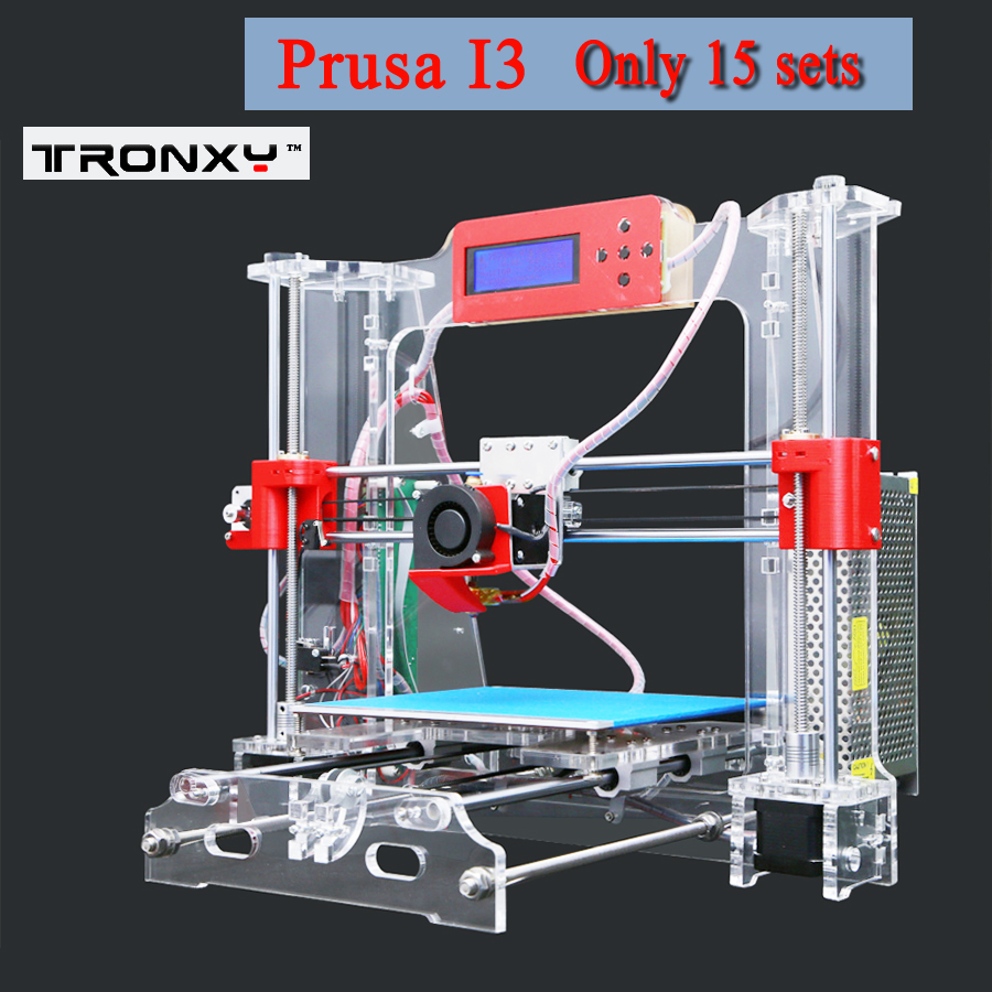 P802 inventory clear Tronxy 2016 Upgraded Quality High Precision Reprap 3D printer Prusa i3 DIY kit tronxy acrylic p802 mts 3d printer