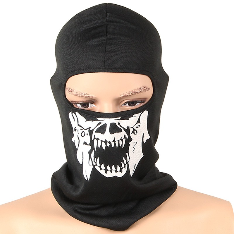Full Face Masks Skull Bike Skiing Hood Mask Balaclava Hood Cotton Neck Guard Masks airsoft adults cs field game skeleton warrior skull paintball mask