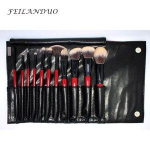 Image 5 - FEILANDUO 11 adet Profesyonel makyaj fırçası Seti Yüksek Kaliteli PBT Makyaj Araçları T004 Makyaj Fırçalar Kozmetik Aracı
