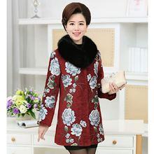 Women's Wool Coat 2017 Ladies Fashion Temperament Thickening Thermal Printing Women Cashmere Coat Winter Wool Jacket Women