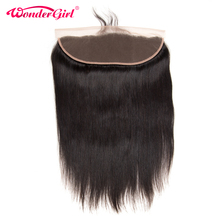 Wonder girl Straight Hair 13×4 Ear to Ear Lace Frontal With Baby Hair Brazilian Remy Hair Natural Color 100% Human Hair Closure