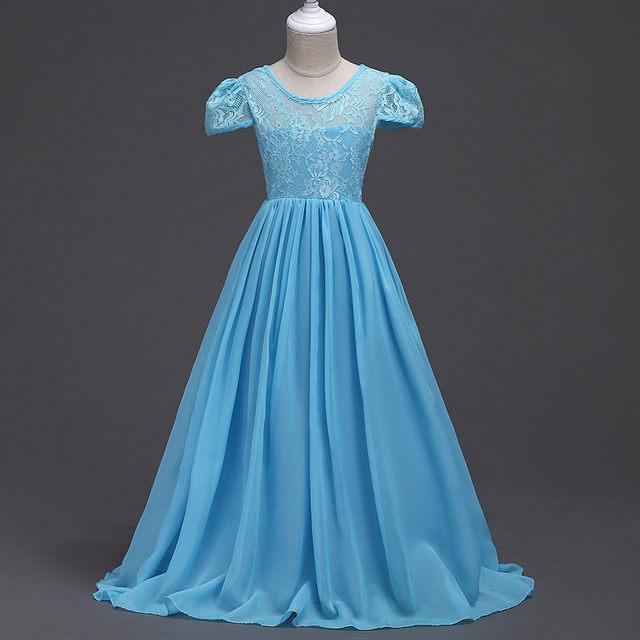 Online Shop Children Wedding Gowns Kids Wedding Dress Grey Sky Blue ...