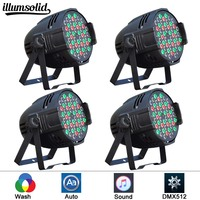 4 teile/los led par lichter 54x3 W DJ Par LED 54*3 w lichter R12  g18  B18  W6 Waschen Disco Licht DMX Controller wirkung|Bühnen-Lichteffekt|   -