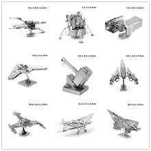 Best Price Metallic 3D Puzzle Model Miniature MJOLNIR Fighter Vehicle Insects Architecture Bridge 3D Jigsaw Puzzle Toys for Gift
