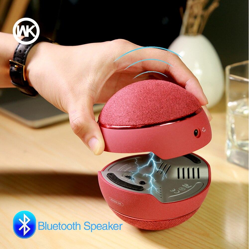WK Caixa haut-parleur Bluetooth haut-parleur magnétique sans fil Portable Subwoofer Mini haut-parleur Bluetooth V4.1 Tronsmart pour téléphone