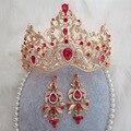 Новые невесты ювелирные изделия оптовой свадебные платья аксессуары ретро Стиле Барокко корона барокко кристалл лента для волос Класса Люкс свадебные украшения 35