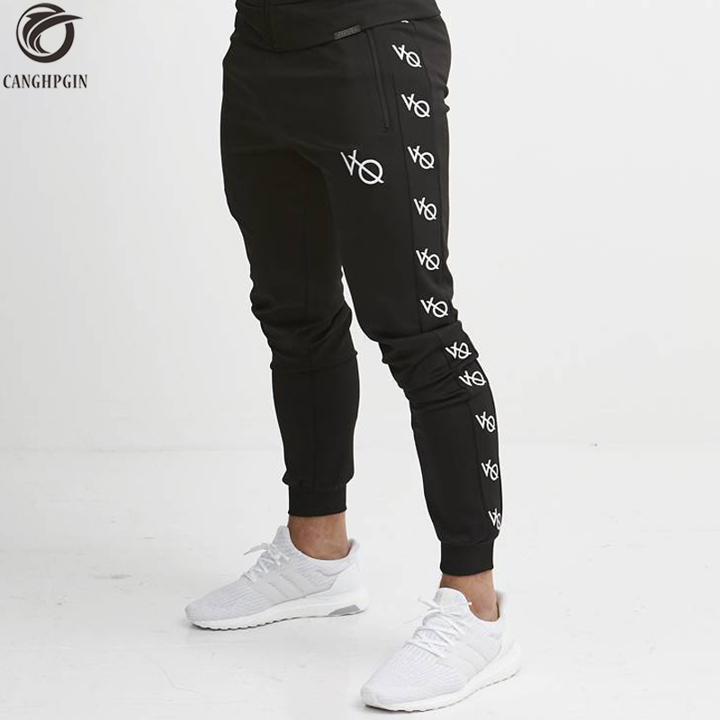 2018 New Skinny Leggings Men Jogging Sweatpants Joggers Running Tights Men Gym Fitness Compression Pants Sports Cotton Trousers new gym sport pants men rashgard jogging pants fitness joggers running pants men sportswear sweatpants elastic training trousers