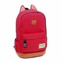 2X Ladies cô gái chuyến đi máy tính xách tay đa chức năng backpack trường book bag vải Dưa Hấu đ