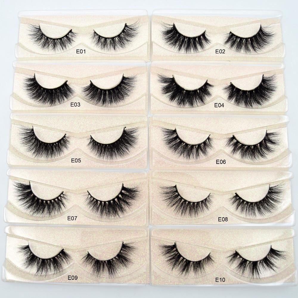 Image 3 - Visofree Mink Lashes 3D Mink Eyelashes 100% Cruelty free Lashes Handmade Reusable Natural Eyelashes Popular False Lashes Makeup-in False Eyelashes from Beauty & Health
